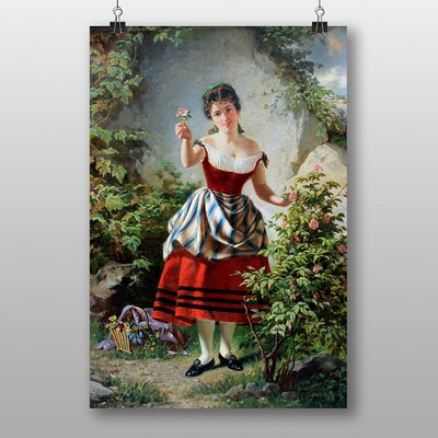 Big Box Art Girl with Flowers by Franz Kadlik Art Print