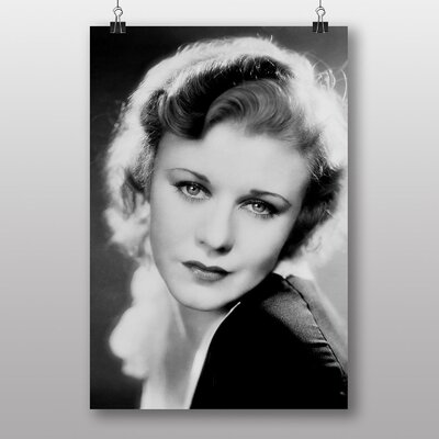 Big Box Art Ginger Rogers No.2 Photographic Print Wrapped on Canvas