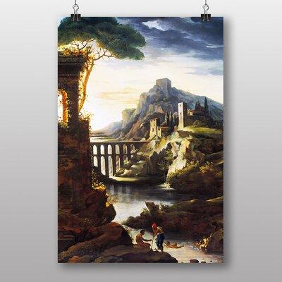 "Big Box Art ""Evening Landscape with an Aqueduct"" by Théodore Géricault Art Print"