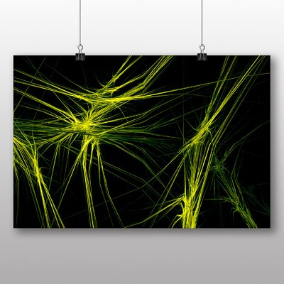 Big Box Art Green Fractal Abstract Graphic Art on Canvas