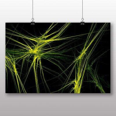 Big Box Art Green Fractal Abstract Graphic Art