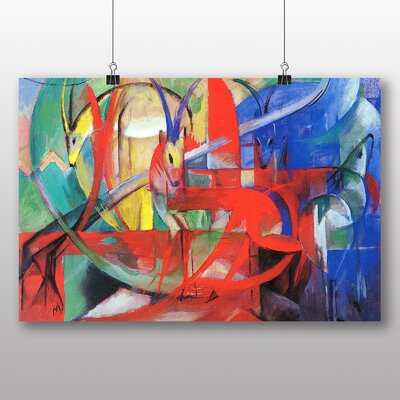 Big Box Art 'Gazelle' by Franz Marc Art Print