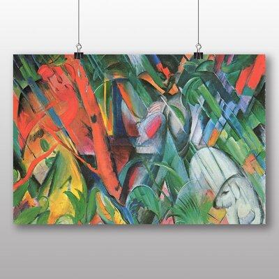 Big Box Art 'In the Rain' by Franz Marc Art Print