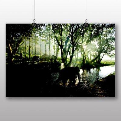 Big Box Art Elephant No.7 Photographic Print Wrapped on Canvas