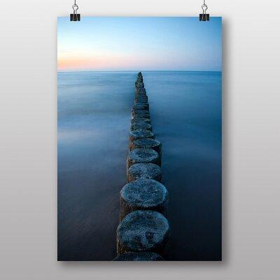 Big Box Art Groynes Evening Sun Baltic Sea Photographic Print
