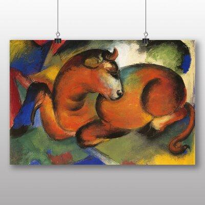 Big Box Art 'The Red Bull' by Franz Marc Art Print