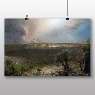 Big Box Art 'Jerusalem from the Mount of Olives' by Frederic Edwin Church Art Print