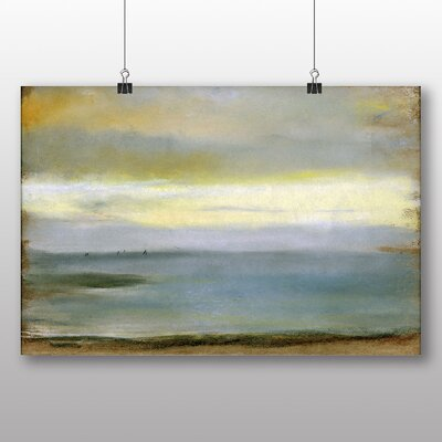 Big Box Art 'Beach at Low the Tide' by Edgar Degas Art Print
