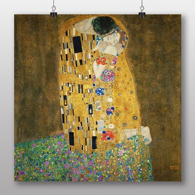 Big Box Art 'The Kiss No.2' by Gustav Klimt Art Print