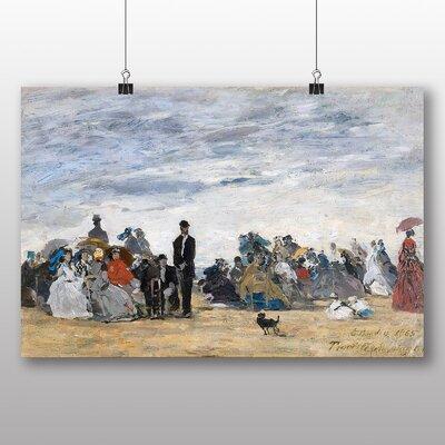 Big Box Art 'Beach of Trouville' by Eugene Boudin Art Print