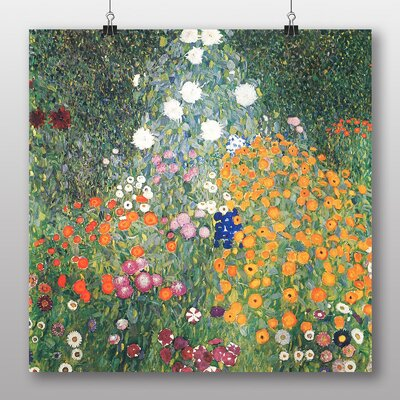 Big Box Art 'Flower Garden' by Gustav Klimt Art Print