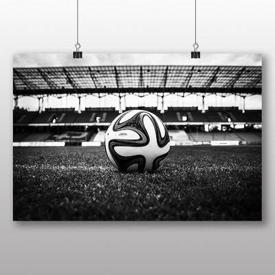 Big Box Art Football Pitch Ball Photographic Print on Canvas