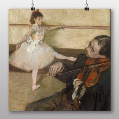 Big Box Art 'The Dance Lesson' by Edgar Degas Art Print