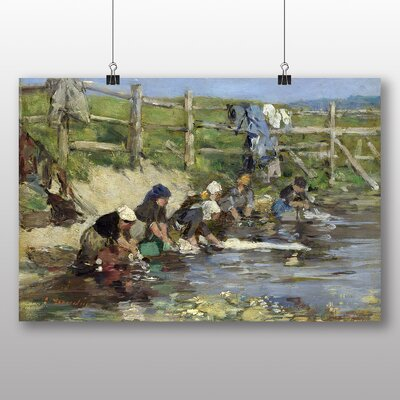 Big Box Art 'Washing in the Stream' by Eugene Boudin Art Print