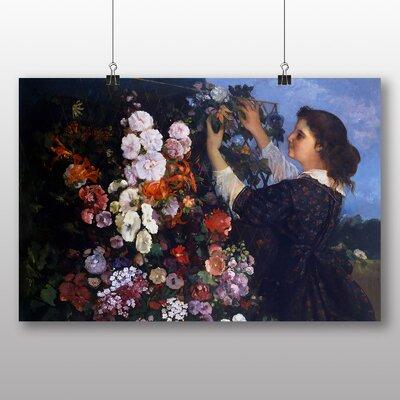 Big Box Art 'Flower Trellis' by Gustave Courbet Art Print