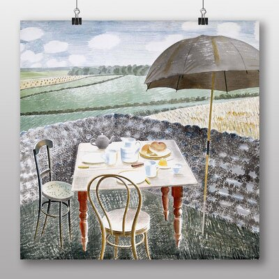 """Big Box Art """"Sussex and the Downs"""" by Eric Ravilious Art Print Wrapped on Canvas"""