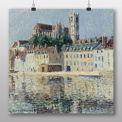 Big Box Art 'The Cathedral in Auxerre' by Gustave Loiseau Art Print