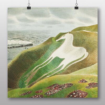 "Big Box Art ""Sussex and the Downs No.2"" by Eric Ravilious Art Print Wrapped on Canvas"