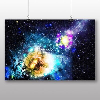 Big Box Art Galaxy Space No.1 Graphic Art Wrapped on Canvas