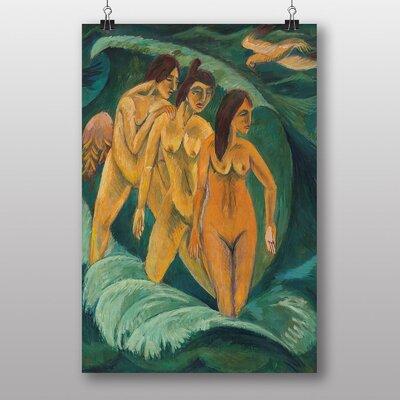 "Big Box Art ""Three Bathers"" by Ernst Ludwig Kirchner Art Print"