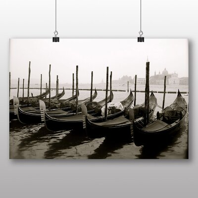 Big Box Art Gondolas Venice Italy Photographic Print