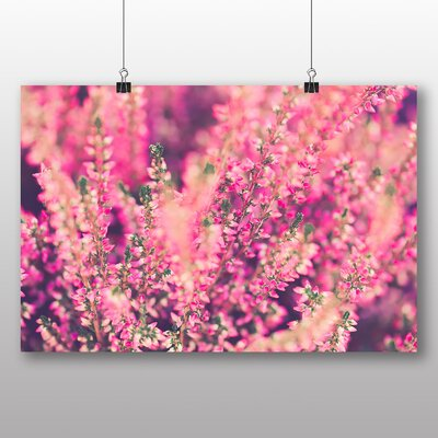 Big Box Art Heather Flowers Photographic Print on Canvas