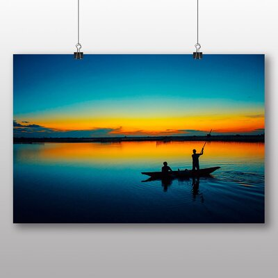 Big Box Art Evening Sunset No.6 Photographic Print Wrapped on Canvas