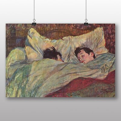 Big Box Art Two Girls in Bed' by Henri de Toulouse-Lautrec Art Print
