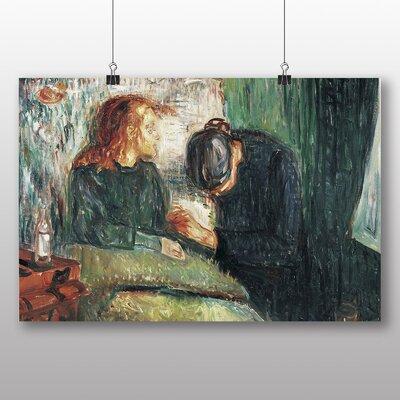 Big Box Art 'The Sick Child No.2' by Edvard Munch Art Print