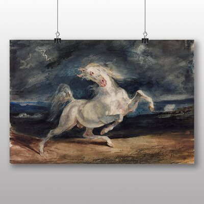 Big Box Art 'Frightened Horse' by Eugene Delacroix Art Print