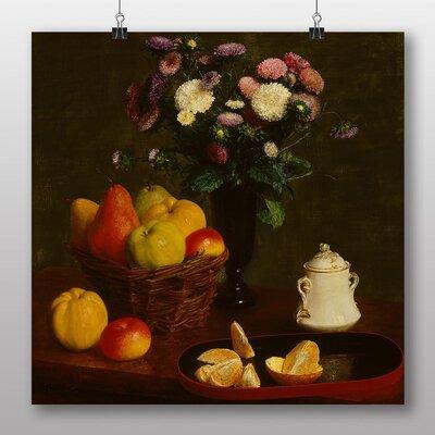 Big Box Art 'Still Life Fruit with Flowers No.5' by Henri Fantin-Latour Art Print
