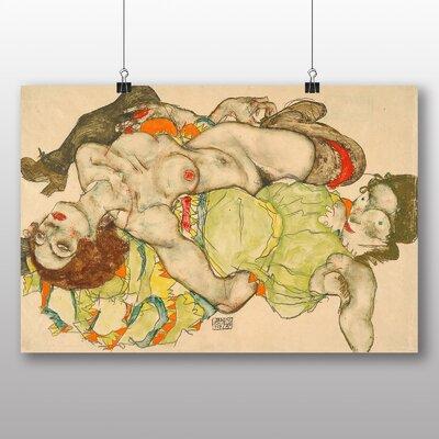 Big Box Art 'Female Lovers' by Egon Schiele Art Print