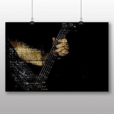 Big Box Art Guitar No.3 Graphic Art Wrapped on Canvas