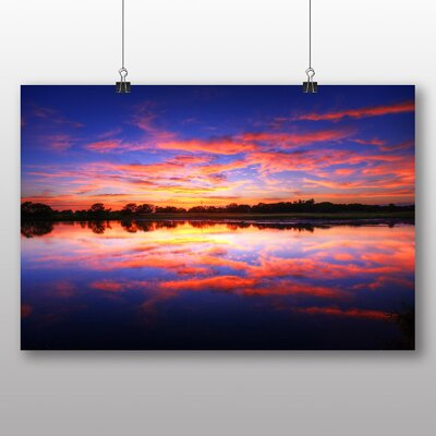 Big Box Art Evening Sunset No.3 Graphic Art Wrapped on Canvas