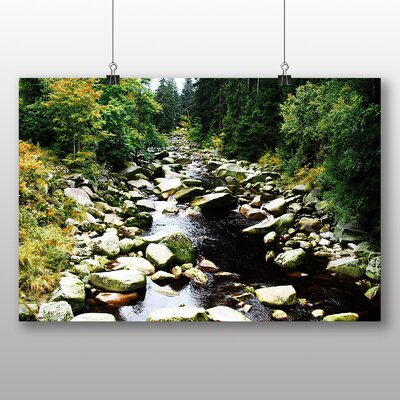 Big Box Art Forest Stream Photographic Print Wrapped on Canvas