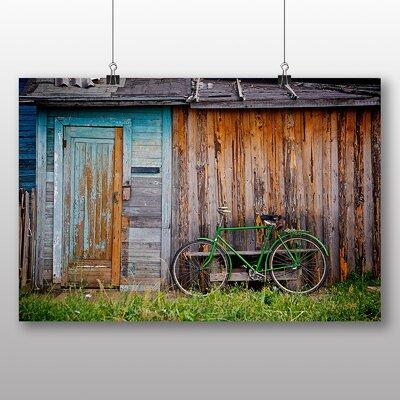 Big Box Art Green Bike Photographic Print on Canvas