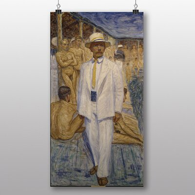 Big Box Art 'Man in a Panama Hat' by Eugene Jansson Art Print