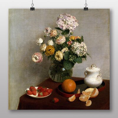 Big Box Art 'Still Life Fruit with Flowers No.6' by Henri Fantin-Latour Art Print