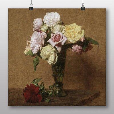 Big Box Art 'Roses in a Fluted Vase' by Henri Fantin-Latour Art Print