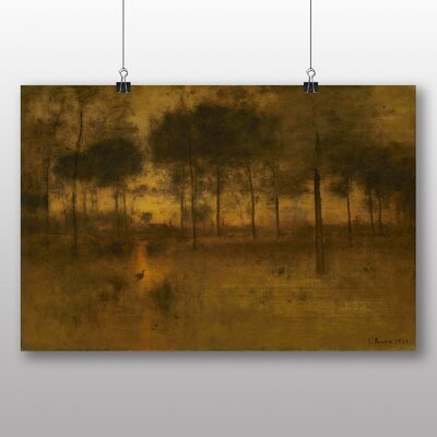 Big Box Art The Home of the Heron' by George Innes Art Print