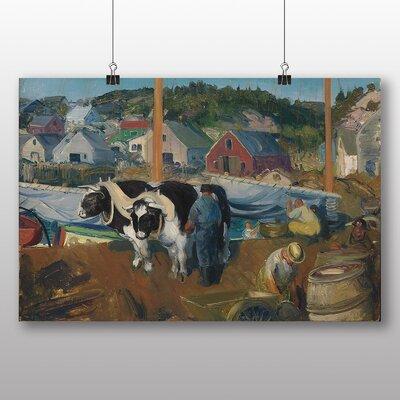 Big Box Art 'Ox Team, Matinicus Wharf' by George Bellows Art Print