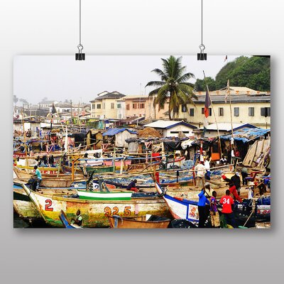 Big Box Art Ghana Africa Photographic Print Wrapped on Canvas