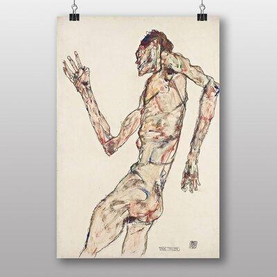 "Big Box Art ""The Dancer"" by Egon Schiele Art Print"