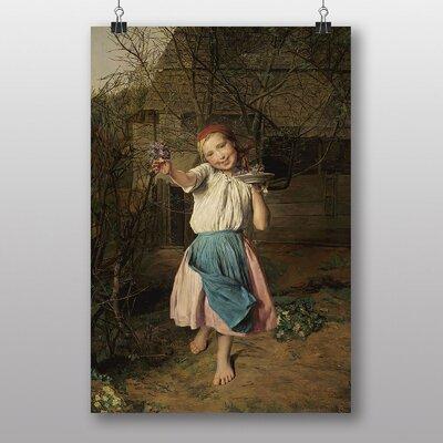 "Big Box Art ""The Violet"" by Ferdinand Georg Waldmuller Art Print"