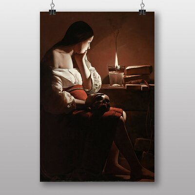 Big Box Art The Magdalen with the Smoking Flame by Georges De Latour Art Print