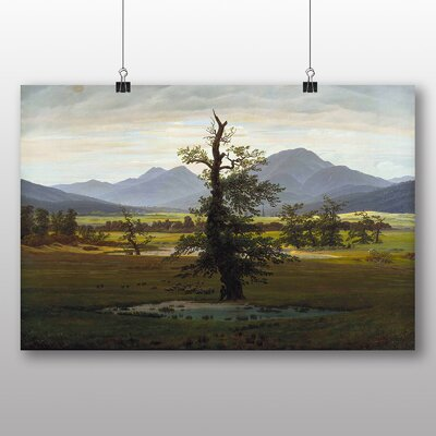 Big Box Art 'The Lonely Tree' by Caspar David Friedrich Photographic Print