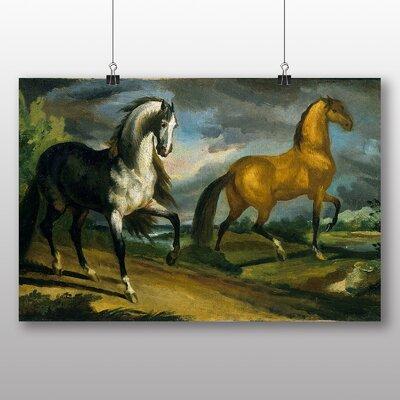 Big Box Art 'Two Horses' by Gericault Theodore Art Print