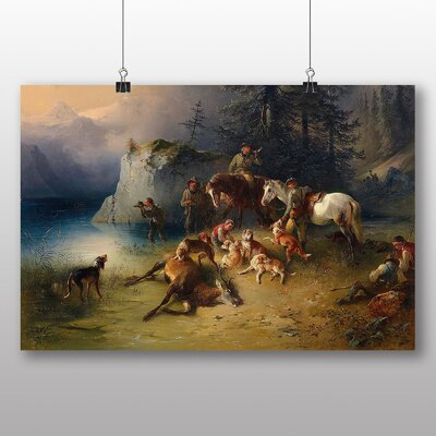 Big Box Art 'At the end of the Hunt' by Ferdinand Georg Waldmuller Art Print