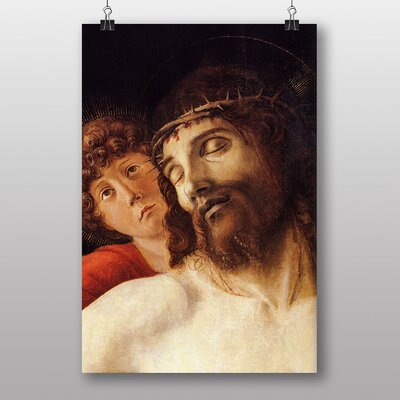 Big Box Art Christ Supported by two Angels by Giovanni Bellini Art Print