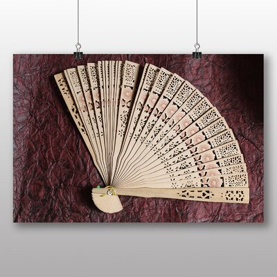 Big Box Art Hand Fan Photographic Print Wrapped on Canvas